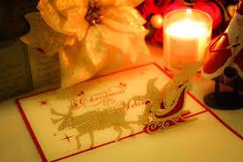 クリスマスカードとキャンドル