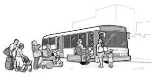 バスの乗り降り