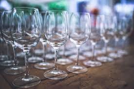 ワイングラスがたくさん